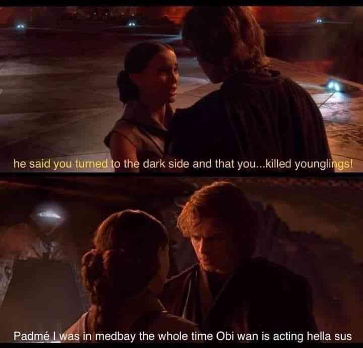Among Us Star Wars Memes Funny Relatable Memes Star Wars Comics