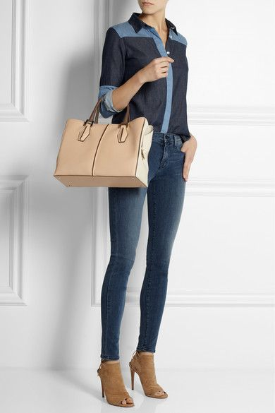 Tod's bag and all-denim look  - Elsa-boutique.it #Tods