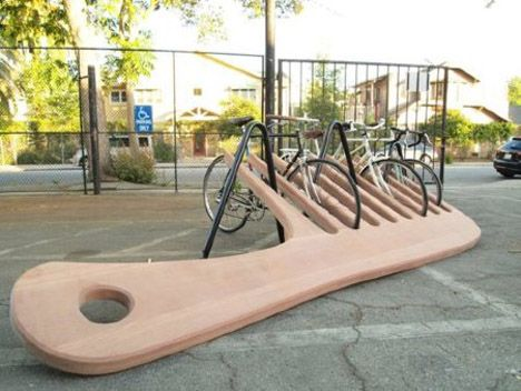Awesome bike rack and public sculpture, surely!