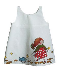Children dress hand painted - Pesquisa Google
