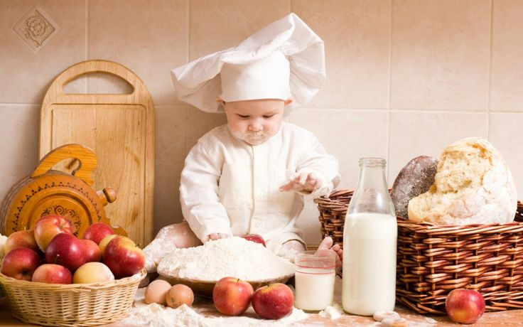 little baby chef looking for cooking something :)