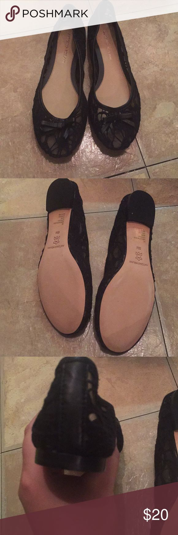 Antonio Melani Lacey flats worn once Antonio Melani Black Lacey flats worn once, in excellent condition with box ANTONIO MELANI Shoes Flats & Loafers