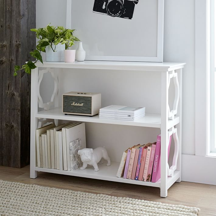 Elsie Wide Bookcase Simply White Furniture Bookcases