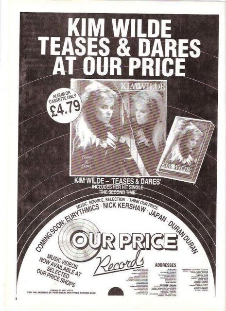 Teases & dares - Our Price advert, 1984