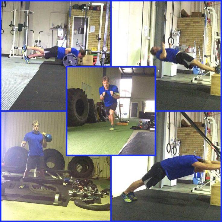 Off Day Conditioning- SL Barbell Push-Up>Ring Inverted Rows>SA Kettlebell Cleans>Strap Fallouts>Sled Push. #pushupproject365 #rawfast