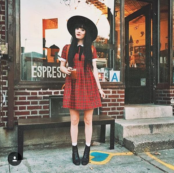 Rachel of the Jag Lever blog in the Odile dress from the AW 15 Collection!