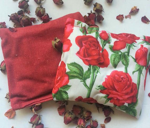 Rose petal scented sachets pack of 2  Aromatherapy pillows