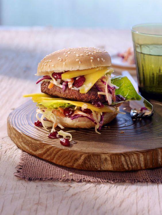 Burger aux cranberries et coleslaw