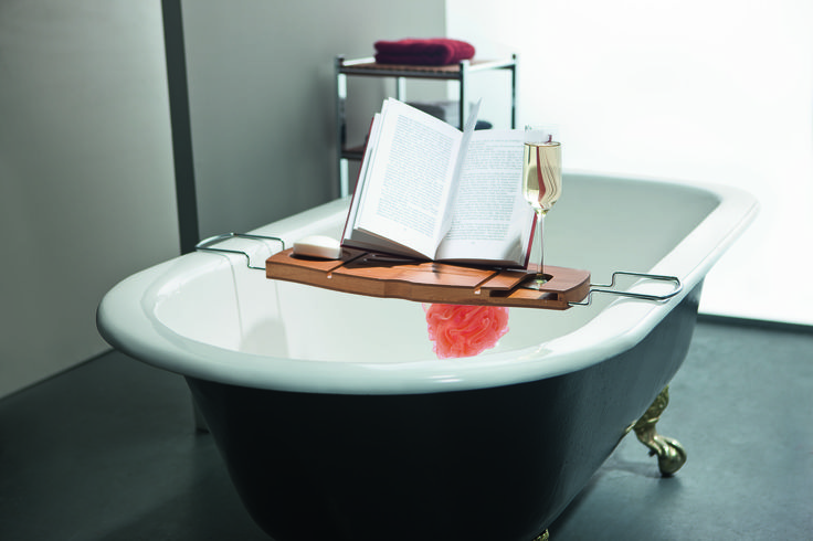 In the cooler months there is no better way to thaw out and relax than taking a nice hot bath. The Bamboo Bath caddy makes it all the more enjoyable. With a book rest and non spill wine glass holder, this is 5 star living in your own home  #howardsstorage #christmaswishlist