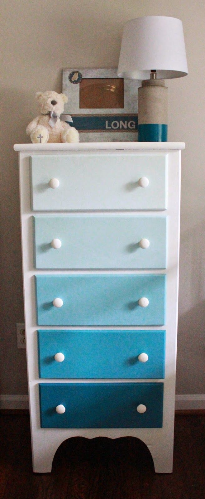 Long and Found: DIY Ombre Dresser