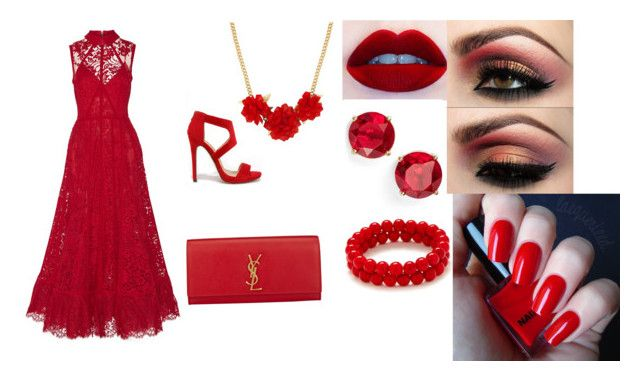 """All Red Everything "" by sharel-njock on Polyvore"