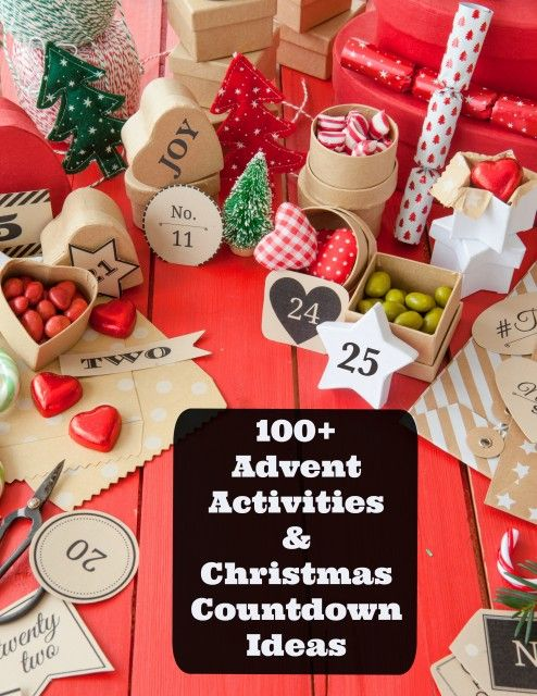 100+ Printable Ideas for an Advent Activity countdown -- LOVE these ideas for connecting as a family during the holidays!