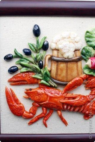 Картина панно рисунок День рождения Новый год Рождество Лепка Роспись Маленикие картины на кухню Акварель Гуашь Тесто соленое фото 2