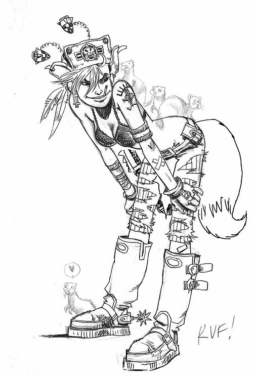 Tank Girl shot the Fox and ate it! She doesn't care what he says.