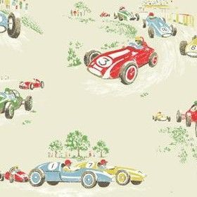 Cath Kidston Fabric Collection. Vintage Race CarWhite ...