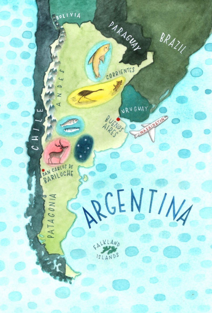 Colorful Map of #Argentina