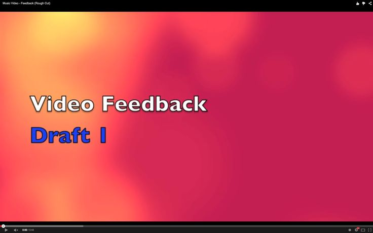 EVALUATION: We then uploaded our feedback to YouTube, which allowed to embed it in our blogs, allowing people to give us further feedback using the YouTube comment system.