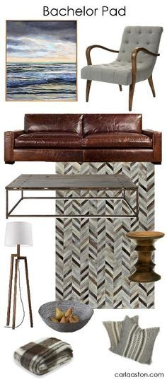 A Guy's Guide To Decorating A Bachelor Pad - click through for links to shop