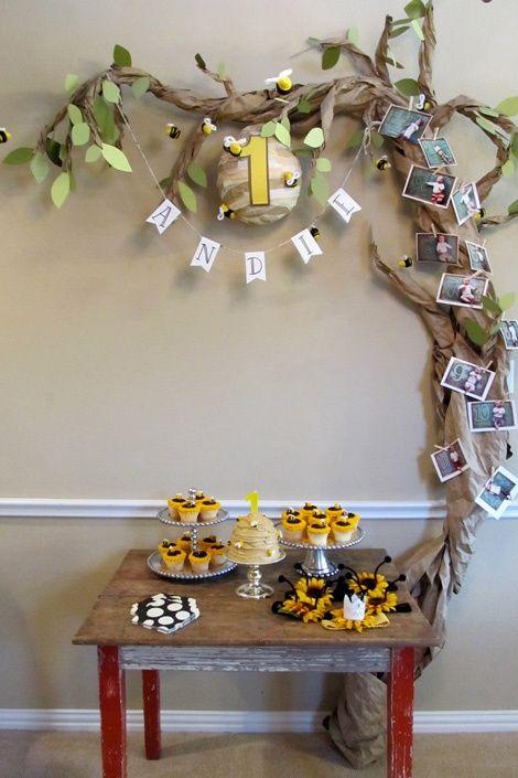 Honey Bee Birthday Love this to go with the pooh bear birthday pin.