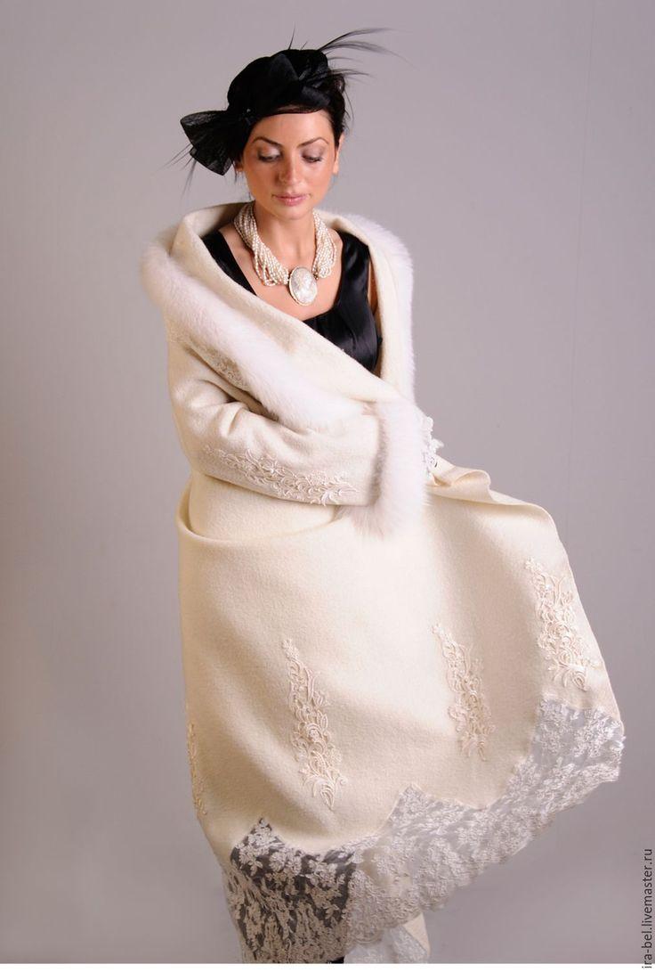 Купить пальто ФЕЯ - белый, свадебная одежда, свадебный, пальто, пальто женское, пальто купить