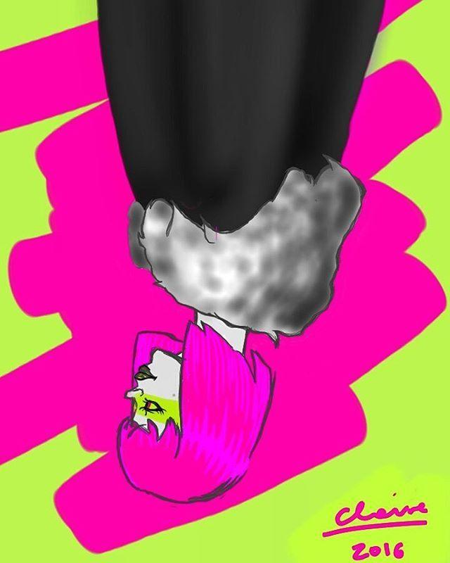 Magenta  #magenta #art #artist #drawing #girl #beautiful #green #fluo #l4l #r4r…