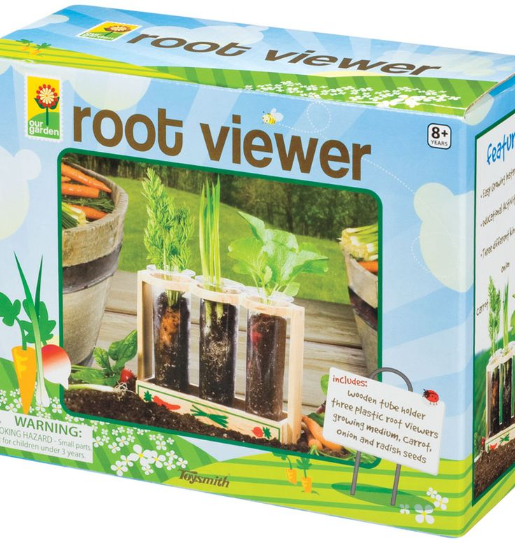The Root Viewer is a fun and educational experience allowing kids to observe the vegetables grow right before their eyes, and to see beneath the ground, into the hidden world of each plant's roots.
