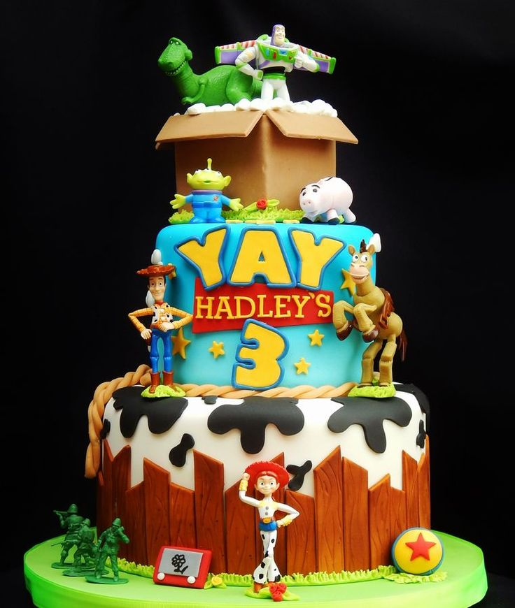 Toy Story Cake. Oh how I wish this was a good link! What an awesome cake!