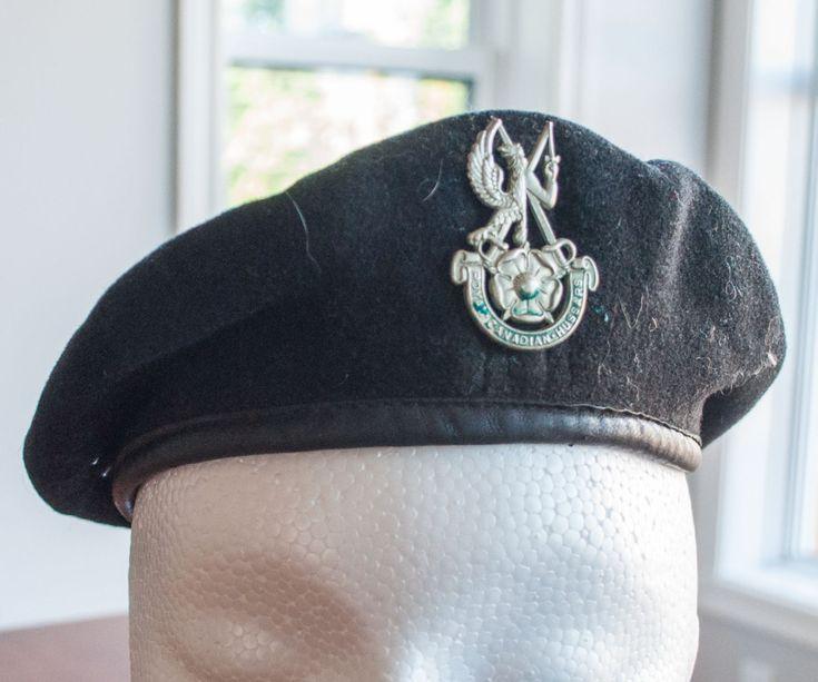 Beret militaire de l'armée canadien du Royal Corps Hussars de la boutique 3rvintages sur Etsy