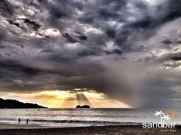 Green season at its best and most beautiful. Sandbar is located in beautiful Playa Hermosa, Guanacaste, Costa Rica. #CostaRica #PuraVida #Beaches #Playa #Vacation #Travel #Tropics #Tropical #Paradise #Guanacaste