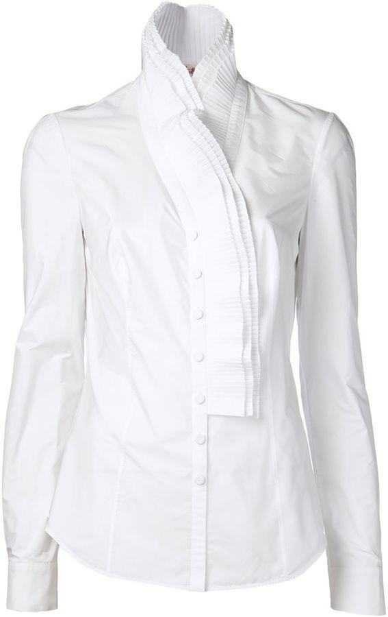 L'Wren Scott ruffle front shirt on shopstyle.com.au