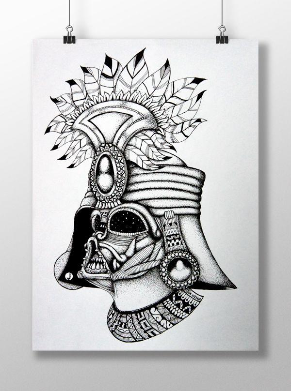 FanArt: Darth Vader del Imperio de los Incas