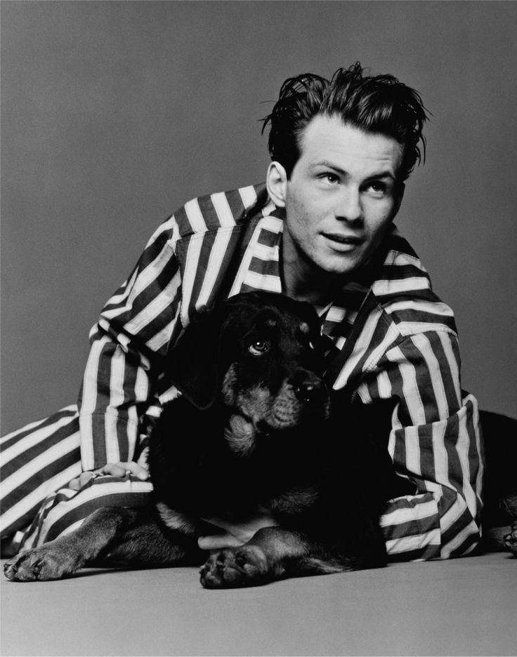 2 things I wanted as a little girl - Christian Slater and a dog (in that order)
