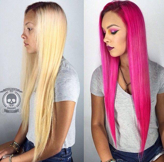 Pretty coloured dyed hair :)