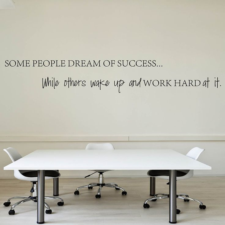Wake Up Work Hard At Your Dreams Motivational Quotes Wall Sticker DIY Decorative Inspirational Quote Wall Decal Office Q153
