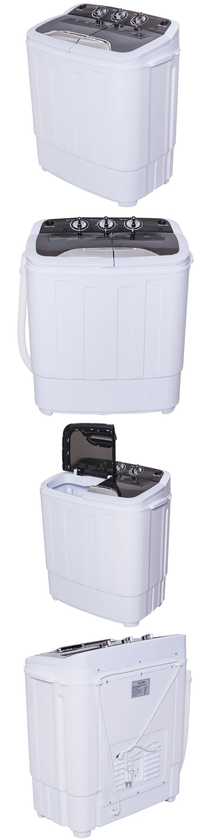 washing machines apartment size washer spin dryer clothes rv boat machine electric portable 110v