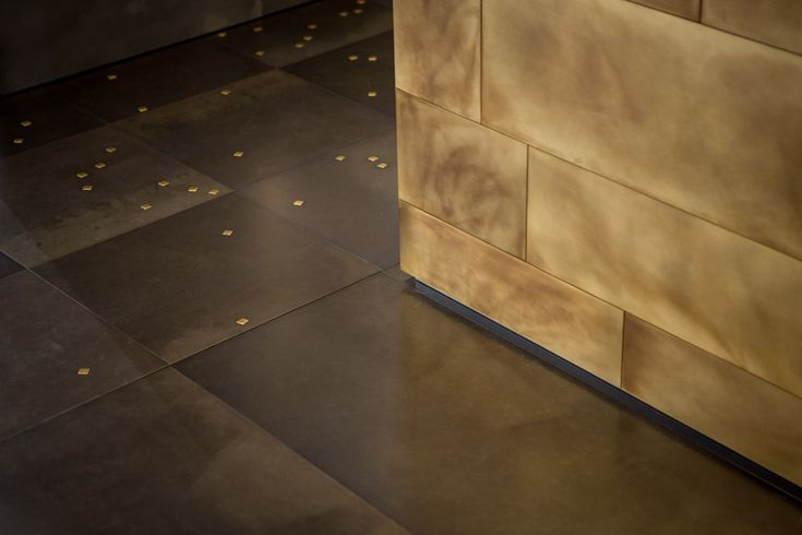 GALAXY #floor #wallcovering #Decastelli at Maison&Objet 2015 #iron #brass ph: Stefano Borghi