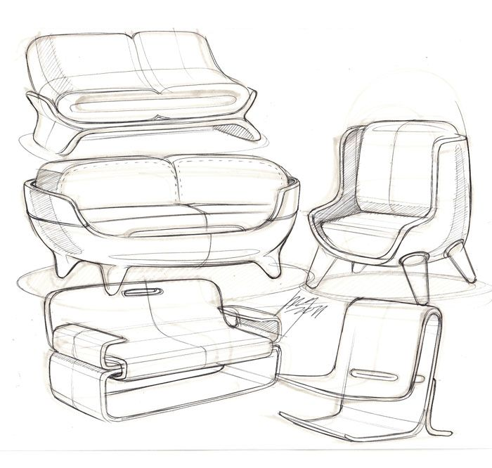 Sofa sketches skd interior pinterest sketching for Furniture design sketches
