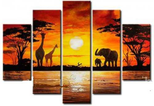 Cuadros modernos africanos tripticos dipticos retratos mla - Cuadros decorativos modernos ...
