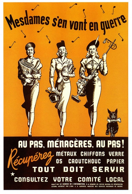 WWII French-language poster, The Ladies Are Going To War!
