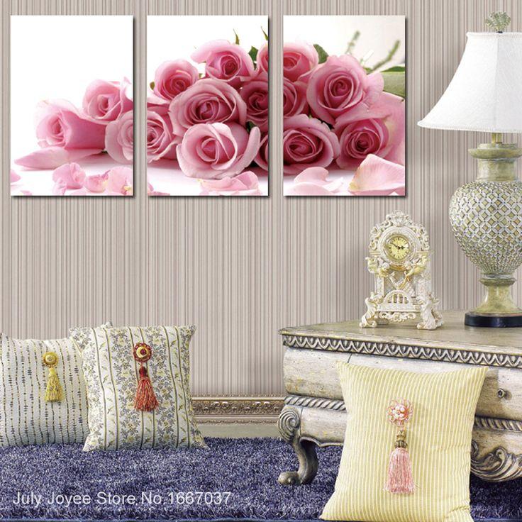 Goedkope roze rozen voor de liefde romantische diy diamant bloem drieluik schilderen steentjes mozaïek patchwork borduurwerk ambachten 30x45x3pieces, koop Kwaliteit naaien gereedschap en accessoires rechtstreeks van Leveranciers van China: Triptych 30X30x3pieces diamond painting 3D Rhinestones picture of flowers Home decoration Diamond mosaic handmade patchw