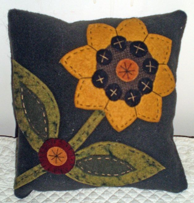 New Design INSTANT DOWNLOAD E PATTERN PENNY RUG Sunflower PILLOW