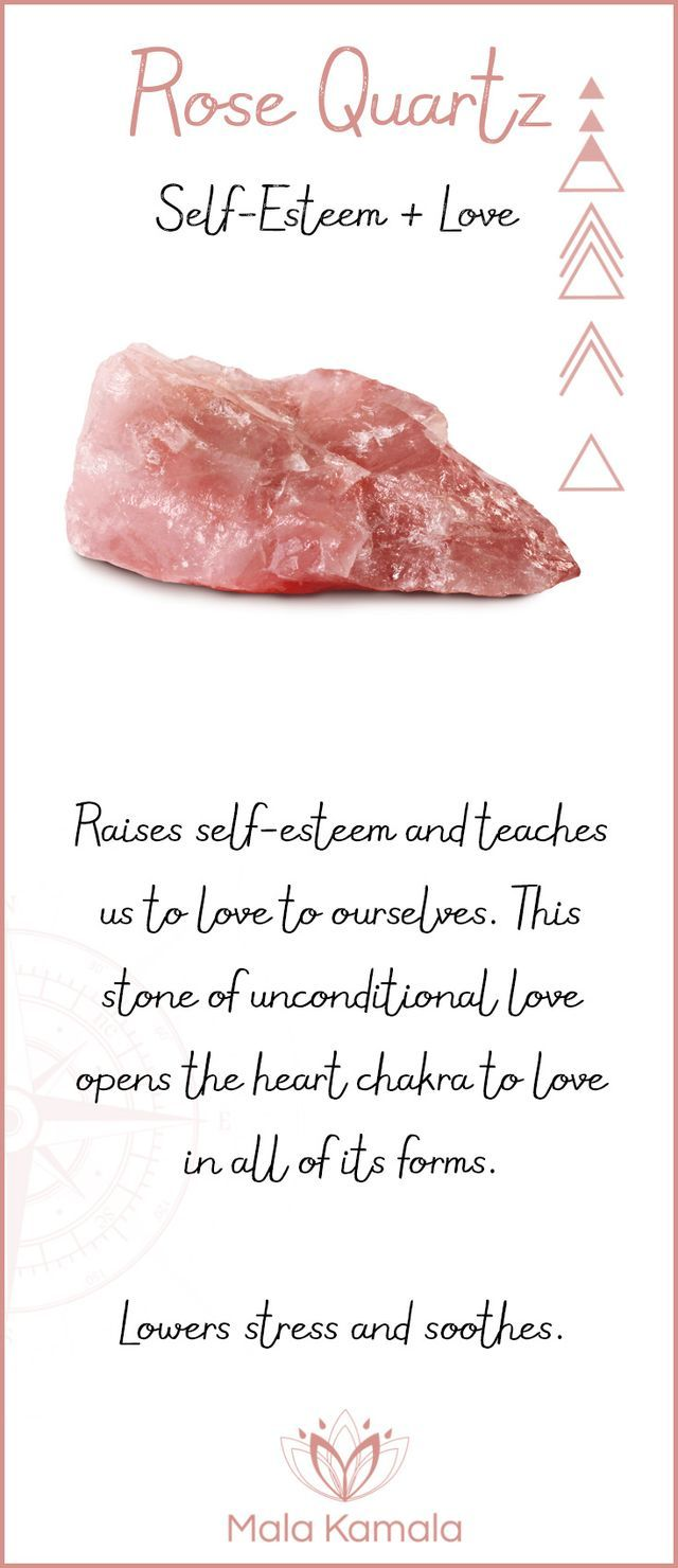 What is the meaning and crystal and chakra healing properties of rose quarz? A stone for self-esteem and love.