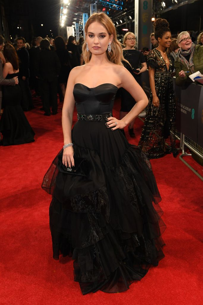 Lily James In Burberry Red Carpet Dresses Gala Gowns Nice Dresses