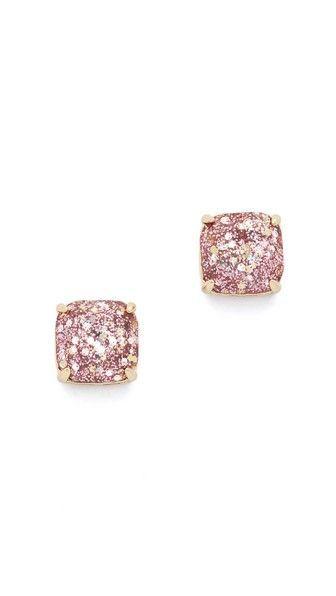 Gorgeous kate spade rose gold glitter stud earrings