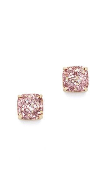 Gorgeous kate spade rose gold glitter stud earrings