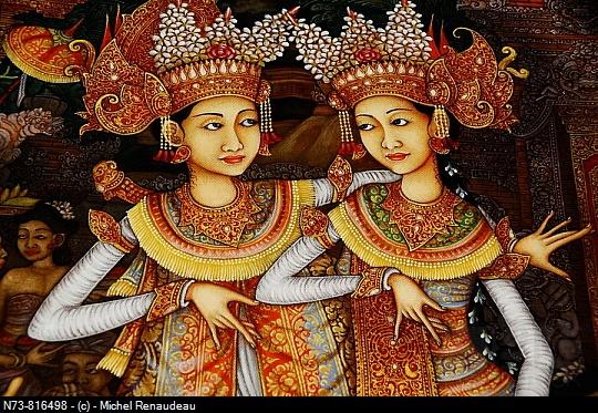 Painting, Ubud, Bali, Indonesia #Dancers #Ubud