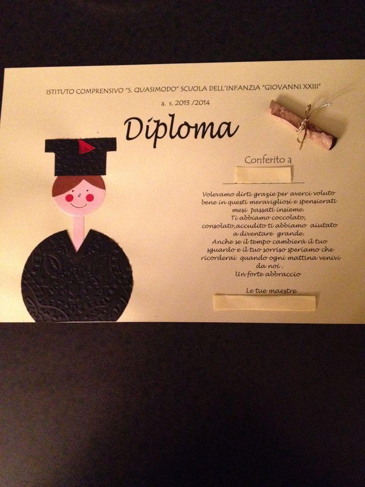 Diploma fine anno scolastico (graduation card)!!
