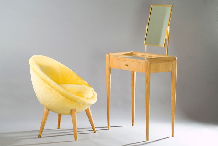 Jean Royre Dressing Table And Its Oeuf Chair MID