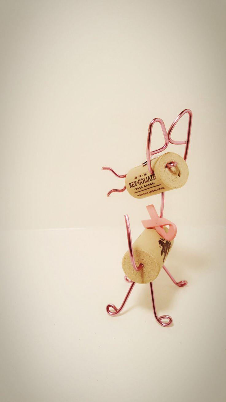 corky kitty wine cork ornament handmade cork cat bca bow cork kitty tree