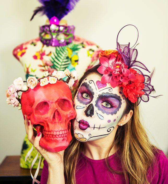 Make de caveira mexicana para carnaval
